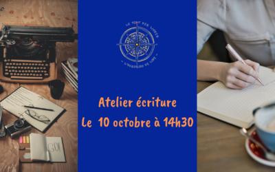 Atelier écriture le 10/10/2020 à 14h30